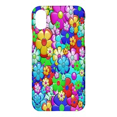 Flowers Ornament Decoration Apple Iphone X Hardshell Case by Celenk