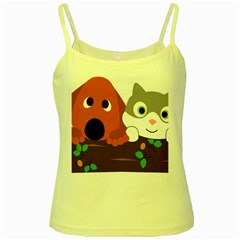 Baby Decoration Cat Dog Stuff Yellow Spaghetti Tank by Celenk