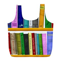 Shelf Books Library Reading Full Print Recycle Bags (l)  by Celenk
