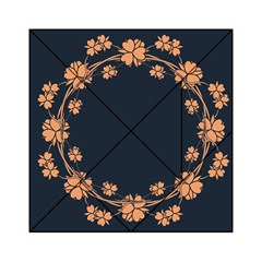 Floral Vintage Royal Frame Pattern Acrylic Tangram Puzzle (6  X 6 ) by Celenk