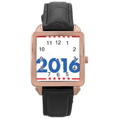 Wtf? 2016 Rose Gold Leather Watch
