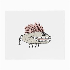 Monster Rat Hand Draw Illustration Small Glasses Cloth (2 Side) by dflcprints