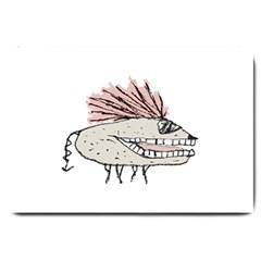 Monster Rat Hand Draw Illustration Large Doormat