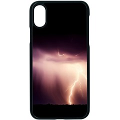 Storm Weather Lightning Bolt Apple Iphone X Seamless Case (black)