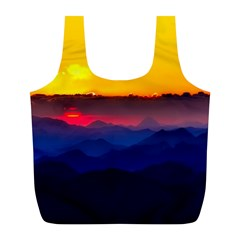 Austria Landscape Sky Clouds Full Print Recycle Bags (l)  by BangZart