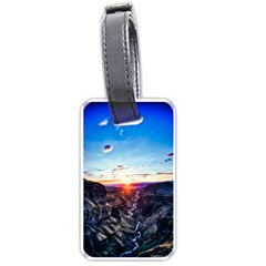 Iceland Landscape Mountains Stream Luggage Tags (two Sides) by BangZart