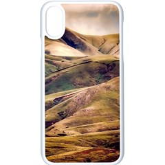 Iceland Mountains Sky Clouds Apple Iphone X Seamless Case (white) by BangZart