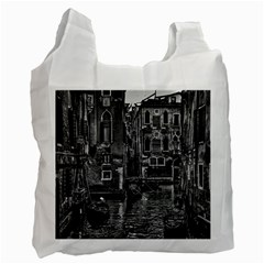 Venice Italy Gondola Boat Canal Recycle Bag (one Side) by BangZart