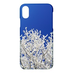 Crown Aesthetic Branches Hoarfrost Apple Iphone X Hardshell Case by BangZart