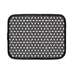 Asterisk Black White Pattern Netbook Case (small)  by Cveti