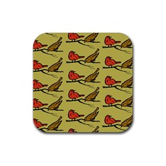 Animal Nature Wild Wildlife Rubber Square Coaster (4 Pack)  by BangZart