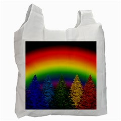 Christmas Colorful Rainbow Colors Recycle Bag (one Side) by BangZart