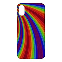Abstract Pattern Lines Wave Apple Iphone X Hardshell Case by BangZart
