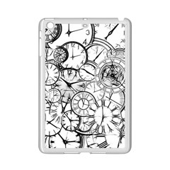 Time Clock Watches Time Of Ipad Mini 2 Enamel Coated Cases by BangZart