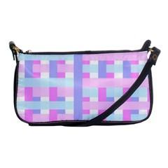 Gingham Nursery Baby Blue Pink Shoulder Clutch Bags