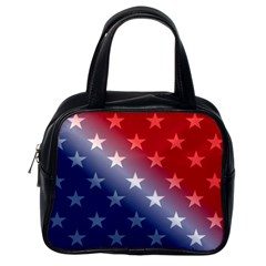 America Patriotic Red White Blue Classic Handbags (one Side) by BangZart