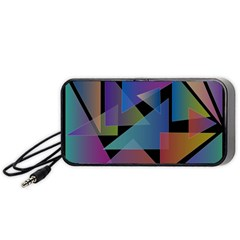 Triangle Gradient Abstract Geometry Portable Speaker