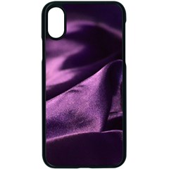 Shiny Purple Silk Royalty Apple Iphone X Seamless Case (black) by BangZart