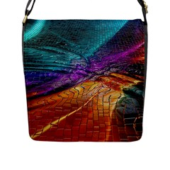 Graphics Imagination The Background Flap Messenger Bag (l)  by BangZart