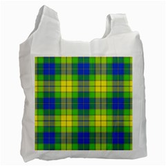 Spring Plaid Yellow Blue And Green Recycle Bag (one Side) by BangZart