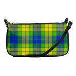 Spring Plaid Yellow Blue And Green Shoulder Clutch Bags Front