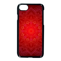 Mandala Ornament Floral Pattern Apple Iphone 8 Seamless Case (black) by BangZart