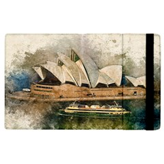 Sydney The Opera House Watercolor Apple Ipad 2 Flip Case by BangZart