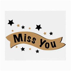 Lettering Miss You Banner Small Glasses Cloth (2 Side) by BangZart