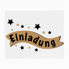 Einladung Lettering Invitation Banner Small Glasses Cloth (2 Side) by BangZart