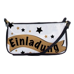 Einladung Lettering Invitation Banner Shoulder Clutch Bags by BangZart