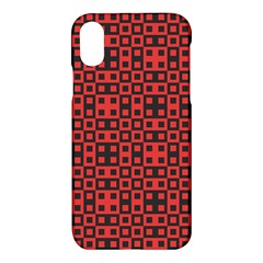 Abstract Background Red Black Apple Iphone X Hardshell Case by BangZart