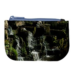 Water Waterfall Nature Splash Flow Large Coin Purse by BangZart