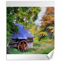 Landscape Blue Shed Scenery Wood Canvas 16  X 20   by BangZart