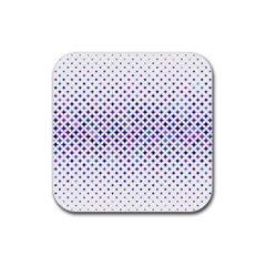 Star Curved Background Geometric Rubber Square Coaster (4 Pack)  by BangZart