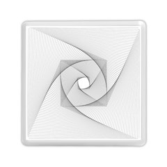 Rotation Rotated Spiral Swirl Memory Card Reader (square)  by BangZart
