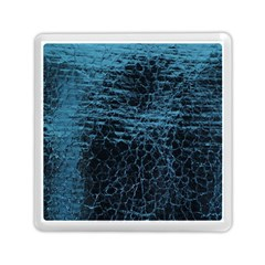 Blue Black Shiny Fabric Pattern Memory Card Reader (square)  by BangZart