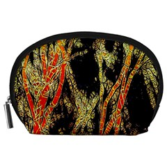 Artistic Effect Fractal Forest Background Accessory Pouches (large)  by Amaryn4rt