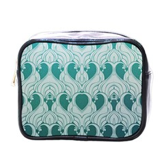 Teal Art Nouvea Mini Toiletries Bags by 8fugoso