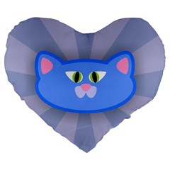 Advertise Animal Boarding Cat Large 19  Premium Flano Heart Shape Cushions by Celenk