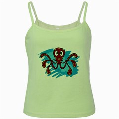 Octopus Sea Ocean Cartoon Animal Green Spaghetti Tank by Celenk