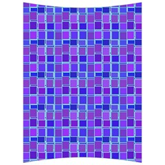 Background Mosaic Purple Blue Back Support Cushion by Celenk