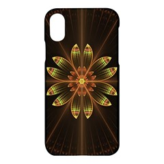 Fractal Floral Mandala Abstract Apple Iphone X Hardshell Case by Celenk