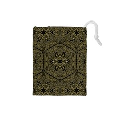 Texture Background Mandala Drawstring Pouches (small)  by Celenk