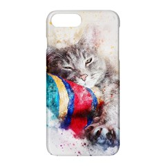 Cat Kitty Animal Art Abstract Apple Iphone 8 Plus Hardshell Case by Celenk