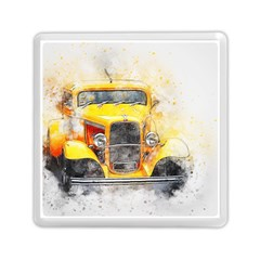 Car Old Art Abstract Memory Card Reader (square)  by Celenk