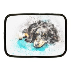 Dog Animal Art Abstract Watercolor Netbook Case (medium)  by Celenk