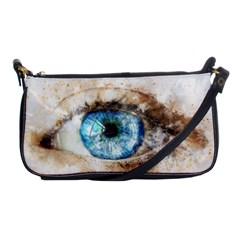 Eye Blue Girl Art Abstract Shoulder Clutch Bags by Celenk