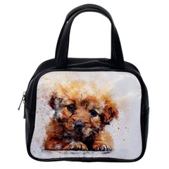 Dog Puppy Animal Art Abstract Classic Handbags (one Side) by Celenk