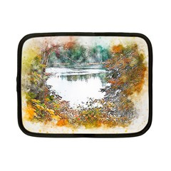 River Water Art Abstract Stones Netbook Case (small)  by Celenk