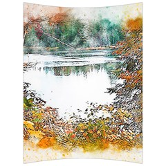 River Water Art Abstract Stones Back Support Cushion by Celenk